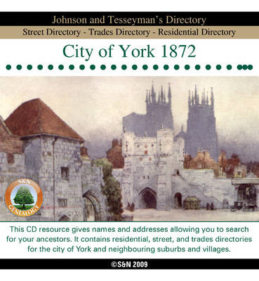 Yorkshire, York 1872 Johnson and Tesseyman's Directory