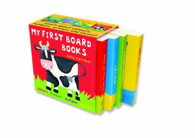 "My First Board Books: ""Jungle Colours"", ""1 2 3 Sea"", ""Hop in the Garden"", ""Moo on the Farm"""