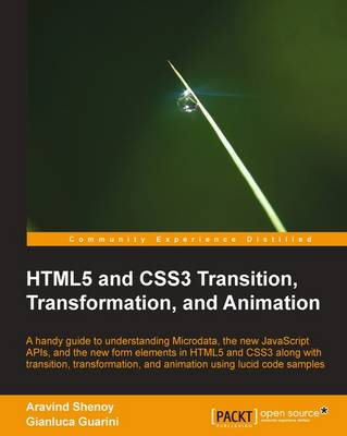 HTML5 and CSS3 Transition, Transformation, and Animation