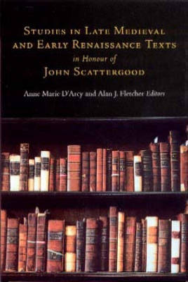 Studies in Late Medieval and Renaissance Texts in Honour of John Scattergood