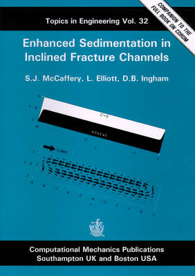 Enhanced Sedimentation in Inclined Fracture Channels