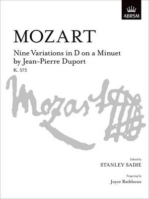 Nine Variations in D on a Minuet by Jean-Pierre Duport: K. 573