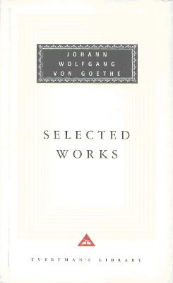 Sorrows Of Young Werther, Elective Affinities, Italian: Journeys and Faust