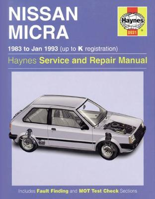 Nissan Micra (83 - Jan 93) Up To K