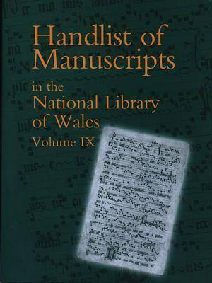 Handlist of Manuscripts Vol IX