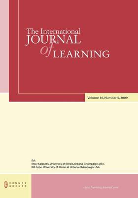 The International Journal of Learning: Volume 16, Number 5