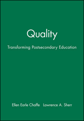 Quality: Transforming Postsecondary Education: ASH E-Eric/Higher Education Research Report Number 3, 1992 (Volume 21)