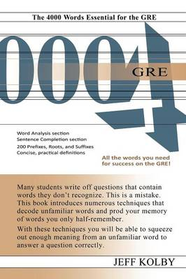 GRE 4000: The 4000 Words Essential for the GRE
