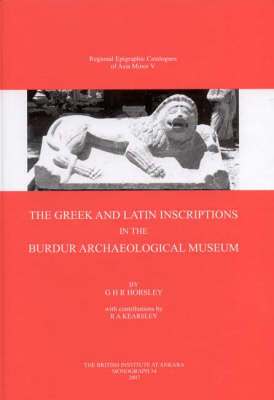 The Greek and Latin Inscriptions in the Burdur Archaeological Museum: No. 34