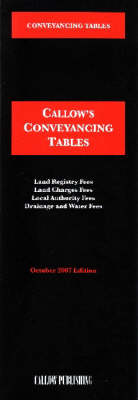 Conveyancing Tables: 2007