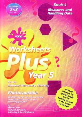 Worksheets Plus for the National Numeracy Strategy Year 5: Book 4: Measures and Handling Data