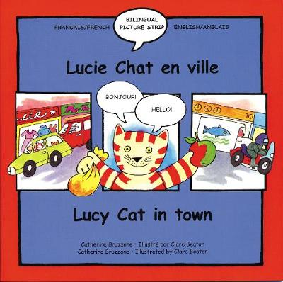 Lucie Chat readers - Lucie Chat en ville/Lucy Cat in town, paperback
