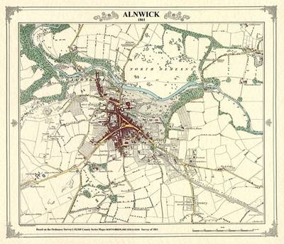 Alnwick 1861 Coloured