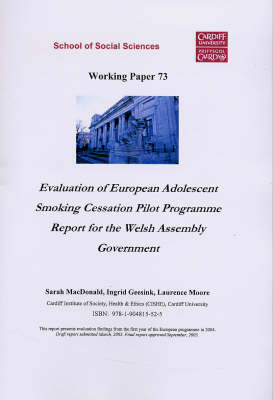 Evaluation of European Adolescent Smoking Cessation Pilot Programme: Report of the Welsh Assembly Government