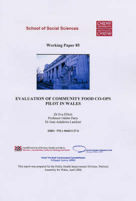 Evaluation of Community Food Co-ops Pilot in Wales
