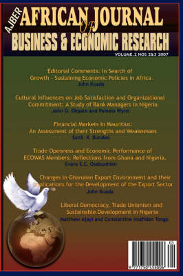 African Journal of Business and Economic Research, Volume 2, Nos 2&3