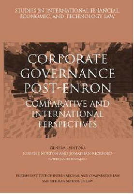 Corporate Governance Post-enron - Comparative and International Perspectives