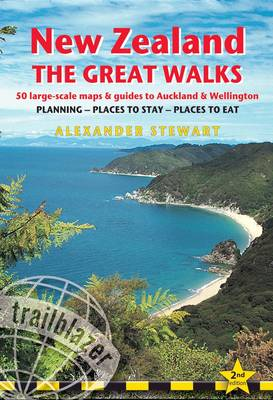 New Zealand: Route and Planning Guide with 50 Detailed Trekking Maps and 10 Town Plans