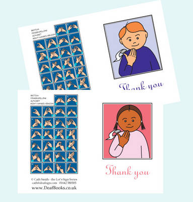 Let's Sign BSL Thank You Cards Small
