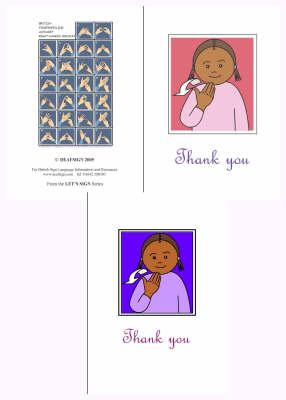 Let's Sign BSL Thank You Cards Medium