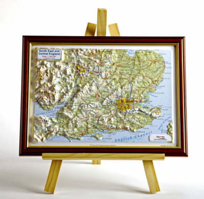 South East England Raised Relief Map: Unframed
