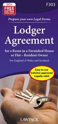Lodger Agreement: For a Room in a Furnished House or Flat - Resident Owner