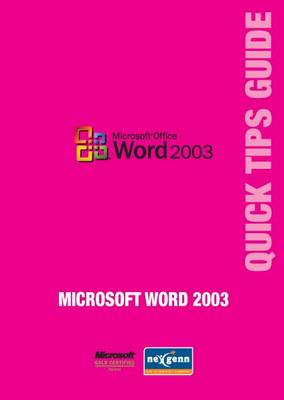 Microsoft Word 2003 Quick Tips Guide