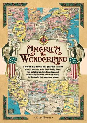 America the Wonderland map, 1941: A Pictorial Map of the United States