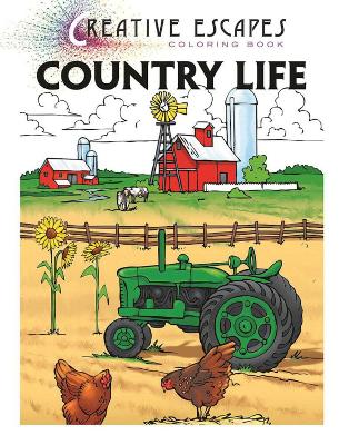 Creative Escapes Coloring Book: Country Life