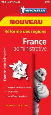 France Administrative - Michelin National Map 728: Map