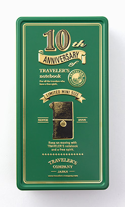 Limited Edition Traveler's Notebook 10th Anniversary Tin Black