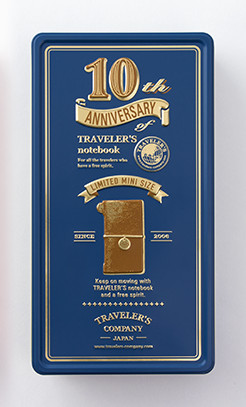 Limited Edition Traveler's Notebook 10th Anniversary Tin Camel
