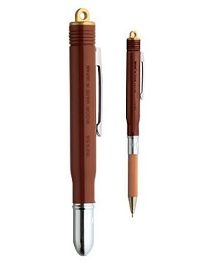 Brass Ballpoint Pen Brown