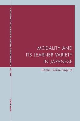 Modality and Its Learner Variety in Japanese