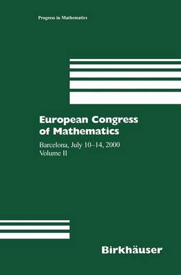 European Congress of Mathematics: Barcelona, July 10-14, 2000 Volume II