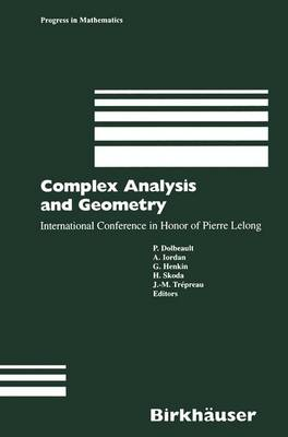 Complex Analysis and Geometry: International Conference in Honor of Pierre Lelong