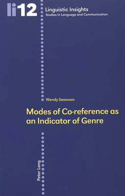Modes of Co-reference as an Indicator of Genre: v. 12