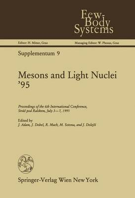 Mesons and Light Nuclei '95: Proceedings of the 6th International Conference, Straz Pod Ralskem, July 3-7, 1995