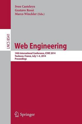 Web Engineering: 14th International Conference, ICWE 2014, Toulouse, France, July 1-4, 2014, Proceedings