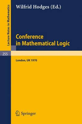 Conference in Mathematical Logic - London '70