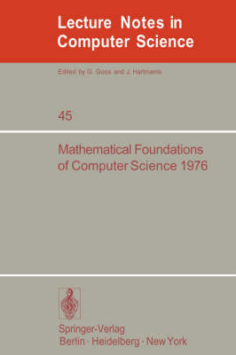 Mathematical Foundations of Computer Science 1976: 5th Symposium at Gdansk, Sept. 6-10, 1976. Proceedings