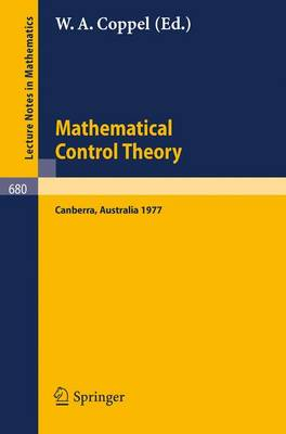 Mathematical Control Theory: Proceedings, Canberra, Australia, August 23 - September 2, 1977