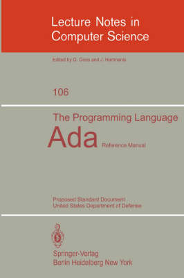 The Programming Language Ada: Reference Manual. Proposed Standard Document United States Department of Defense