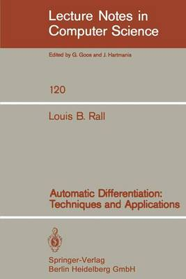 Automatic Differentiation: Techniques and Applications