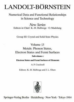 Electron States and Fermi Surfaces of Elements / Elektronenzustande Und Fermiflachen Von Elementen