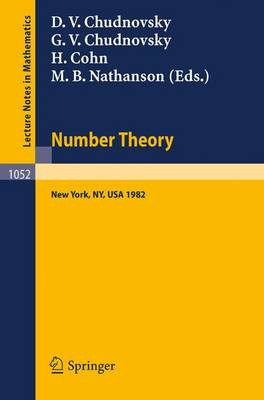 Number Theory: A Seminar held at the Graduate School and University Center of the City University of New York 1982