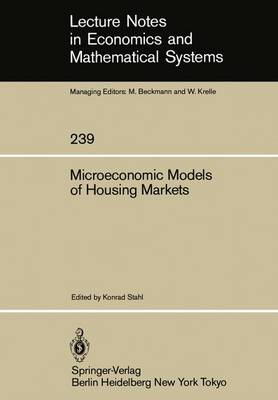 Microeconomic Models of Housing Markets