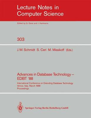Advances in Database Technology - EDBT '88: International Conference on Extending Database Technology Venice, Italy, March 14-18, 1988. Proceedings