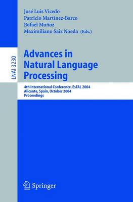 Advances in Natural Language Processing: 4th International Conference, EsTAL 2004, Alicante, Spain, October 20-22, 2004. Proceedings