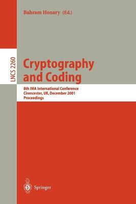 Cryptography and Coding: 8th IMA International Conference Cirencester, UK, December 17-19, 2001 Proceedings